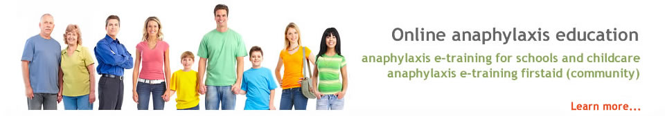 Online anaphylaxis training