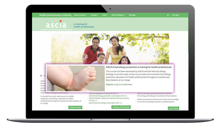 ASCIA Food allergy prevention e-training for health professionals