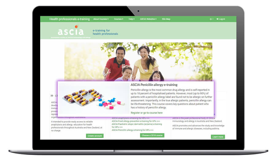 ASCIA Penicillin allergy e-training