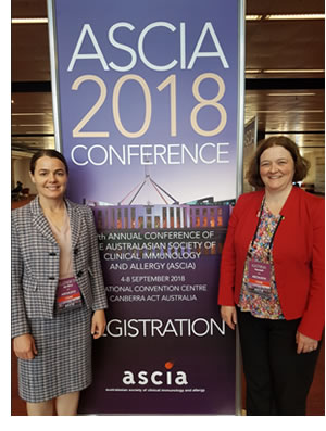 ASCIA 2018 Conference Co chairs Dr Elizabeth da Silva and Assoc Prof Katrina Randall