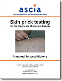 Skin Prick Testing Australasian Society Of Clinical
